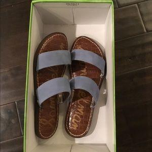 New Sam Edelman Gala two strap slide sandals